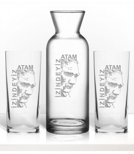 Atatürk Laser İşleme Karaf Seti